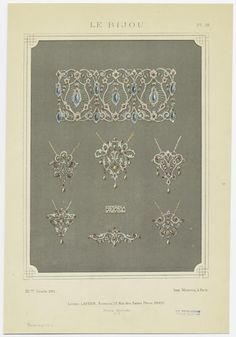 Pendants, Bracelet, Etc.] From New York Public Library Digital Collections.