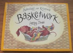 Schnitzel von Krumm's Basketwork 1994 Lynley Dodd Dachshund Dog Book for Children