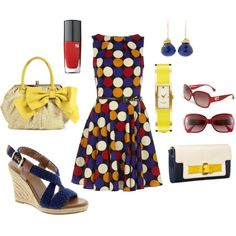 Cute!-- I'm not really big on polka dot as a fashion mails cool! But clothes no way. But I love this outfit! Idk why but I do..