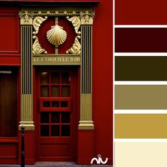 Dark red and metallic gold. | Pinned from http://www.pinterest.com/mooremanager/color-chips-part-1/
