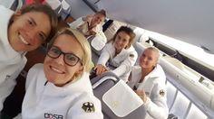 Fußball-Olympiasiegerin Annike Krahn und ihre Teamkolleginnen saßen bestens…