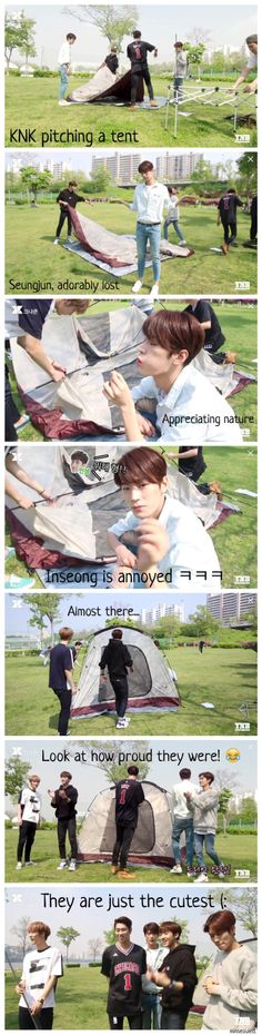 MY KNK TELEVISION ep. 31 - By far the funniest one yet! This made my cheeks hurt I was laughing and smiling through the whole thing. I am working on a few other funny moments from this episode. But lord, the five of them trying to pitch that tent.... hahaha #KNK #크나큰