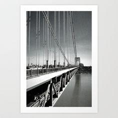 Over the Edge - George Washington #Bridge #NYC #Art Print by Damn_Que_Mala - $16.00