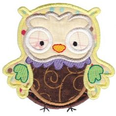 Bunnycup Embroidery   Free Machine Embroidery Designs   What A Hoot Applique