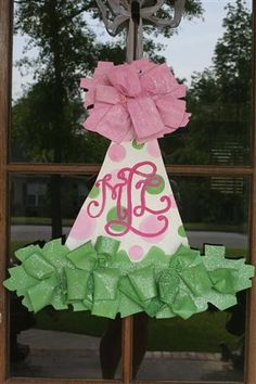 Birthday Door Hanger/front door sign!!! Bebe'!!! Darling idea for a child's birthday!!! Save and use each year!!!