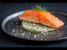 Recette de Pavé de saumon basse température, semoule de chou fleur à l'aneth facile et rapide