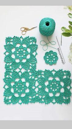 The Number One Marketplace to Buy Crochet Patterns Crochet Flower Tutorial, Crochet Lace Edging, Crochet Blocks, Granny Square Crochet Pattern, Crochet Flower Patterns, Crochet Stitches Patterns, Crochet Squares, Crochet Granny, Filet Crochet