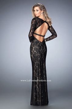 You are sure to feel glamorous and beautiful in La Femme Style #22306 available at Whatchamacallit Boutique