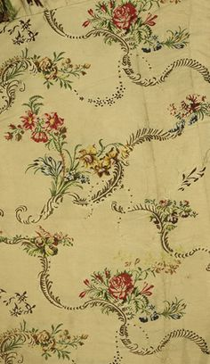 MANTUA DRESS – Detail of fabric from white silk mantua dress, 1746-1750 | Shop now at surfaceview.co.uk