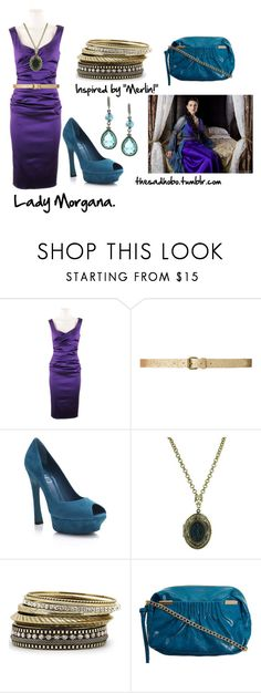 """""""Lady Morgana inspired fashion"""" by erfquake ❤ liked on Polyvore featuring Talbot Runhof, Zara, Yves Saint Laurent, 1928, Mixit, Dorothy Perkins, lady morgana, morgana and merlin"""