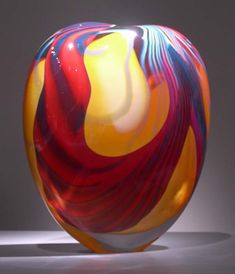 """""""Yellow Wide Stone Form"""" Peter Layton"""