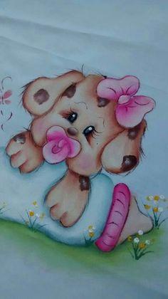 Pintura em tecido Baby Painting, Fabric Painting, Art Drawings For Kids, Cartoon Drawings, Pinterest Pinturas, Brother Innovis, Baby Animals, Cute Animals, Baby Clip Art
