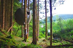 Luminair's Tree Tents Are an Airplane-Inspired Low-Impact Way to Camp Amidst the Leaves