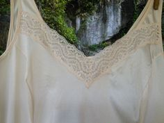 French Vintage Full Slip Lingerie Unworn by FromParisToProvence