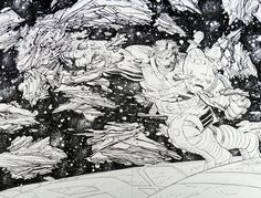 John Romita Jr. World War Hulk 1 Double Page Splash Comic Art