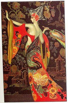 M. Montedoro, Art Deco postcard 5, 1920s by Gatochy, via Flickr