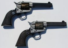 A pair of really cool vintage lightweight Ruger Single Sixes.