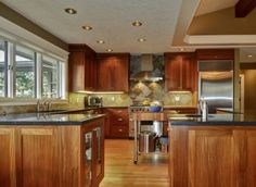 Portland Heights Area Residential: Gourmet Eat-In Kitchen With Breakfast Nook and Adjoining Family Room