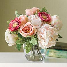 Blush Pink Rose & Peony Arrangement