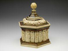 RISD Museum: Baldessare degli Embriachi, Italian; Venetian, Casket, c. 1400, Bone, wood and horn; base width 31.8 x 22.9 cm (12 1/2 x 9 inches), Gift of the Estate of W. Phelps Warren 85.075.8