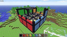 Minecraft Rubix cube building