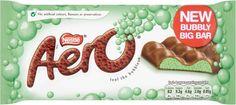Aero Mint Chocolate Bubbly Bar 4 x Pack - British Chocolate 7613034919625 British Chocolate, Mint Bar, Craving Sweets, Gingerbread Cookies, Preserves, Cravings, Bubbles, Canada 150, Sugar