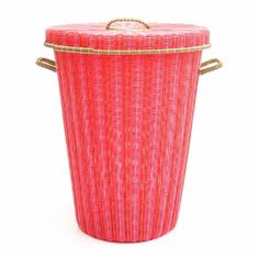 Happy Housekeeping: Cheerful Storage and Laundry Baskets from Mexico - Remodelista Laundry Basket With Lid, Laundry Baskets, Shoe Bin, Inside A House, Mitchell Gold, Home Organization, Housekeeping, Red And Pink, Cheer