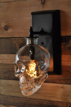 Set The Mood With A Skull Lamp Made From A Vodka Bottle
