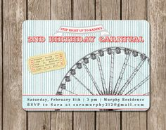 PRINTED Carnival Ferris Wheel Birthday by pinkcreativeinvites