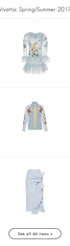 """Vivetta: Spring/Summer 2017"" by livnd ❤ liked on Polyvore featuring vivetta, springsummer2017, livndfashion, livndvivetta, dresses, ruffle collar dress, broderie dress, ruffle dress, circle dress and embellished dress"