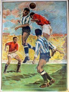Football (header), 1963 - original vintage poster listed on AntikBar.co.uk