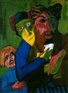 Les excités (1913) – Emil Nolde (German, 1867–1956)