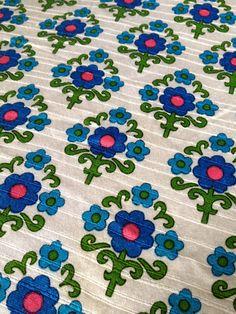 Retro Curtain Fabric Dekoplus Vintage Fabric by TheRabbitandtheOwl