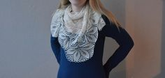 White Haruni scarf by Lankatarina