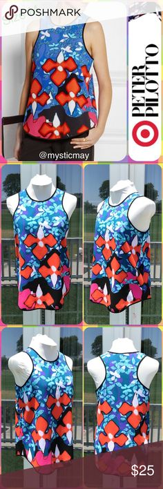 """PETER PILOTTO Red Iris Print Racerback Tank Top M Super cute Red Iris Print Tank Top designed by Peter Pilotto for Target! Floral Print with vibrant color. Racerback style with easy, lose fit. Polyester/Spandex blend. Ladies Size M or 8/10. Measures 19"""" across the chest and 27"""" in length. High designer quality for great low price! ❤️ Peter Pilotto for Target Tops Tank Tops"""