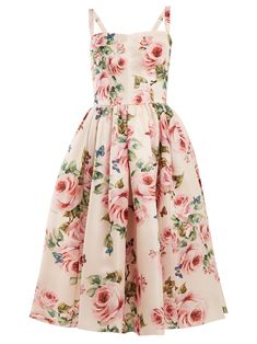 ShopStyle Look by akarsh featuring Dolce & Gabbana - Pleated Floral-print Silk-organza Midi Dress - Pastel pink and Christian Louboutin - Pigalle 100 Patent-leather Pumps - Red Rose Pink Dress, Baby Pink Dresses, Pink Floral Dress, Summer Dresses, Floral Dresses, Floral Chiffon, Midi Dresses, Print Chiffon, Pleated Midi Dress