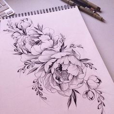 Image result for peonies outlines