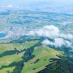 스위스 알프스 리기산 정산에서 바라본 구름
