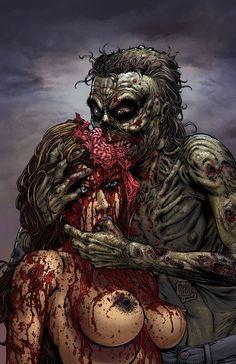 Walking Dead Girls and Pre-Zombie Apocalypse Babes Arte Horror, Horror Art, Horror Movies, Funny Horror, Arte Zombie, Zombie Art, Dark Beauty, Dark Fantasy Art, Dark Art