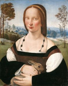 Ridolfo del Ghirlandaio (1483-1561) - Ritratto di donna con coniglio - 1508 circa - New Haven (CT), Yale University Art Gallery, Jarves Collection