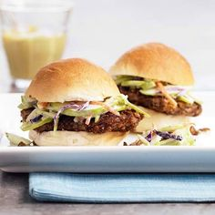 Pecan Crusted Sliders.  Martin's 12 Sliced Potato Rolls would be great for these!