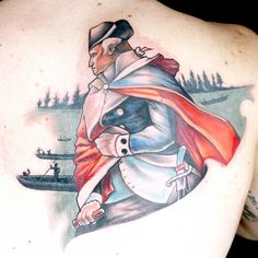27ac06660 Color Realistic Battle Scene Tattoo by House of Monkey (Lalo & Picasso). Ink  Master