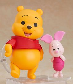 "The honey-loving Winnie-the-Pooh is joining the Nendoroids! From the 2011 movie ""Winnie-the-Pooh"" comes a Nendoroid of Winnie-the-Pooh together with Piglet in a special set. The two of them have been recreated in the Nendoroid series' signatur."