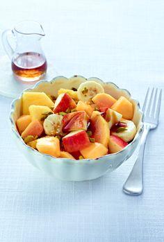 Obstsalat kuchen vom blech