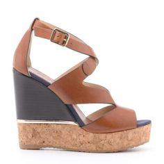 JIMMY CHOO Jimmy Choo Brown Leather Wedge Shoes. #jimmychoo #shoes #595802