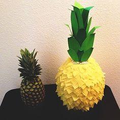 DIY Pineapple Pinata Paper Mache Pinata, Paper Mache Diy, Movie Basket Gift, Movie Gift, Pineapple Pinata, Harry Potter Christmas Tree, Crepe Streamers, Hawaiian Theme, Fall Gifts