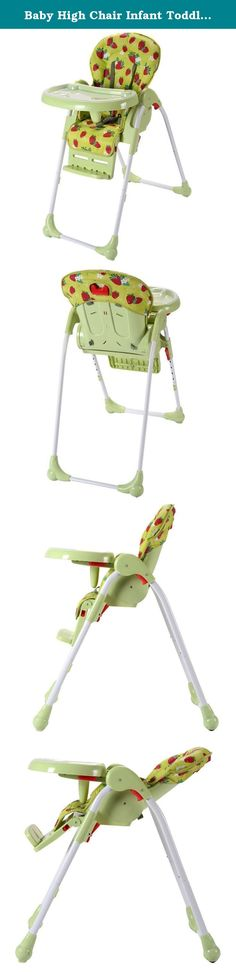 Baby High Chair Infant Toddler Feeding Booster Seat Folding Safety Portable ( Green Strawberry ) // Foldable design for storage and carry to save room. Brand new and high quality Solid steel frame and heavy-duty stable base Foldable design for storage and carry to save room Adjustable height of the chair to meet different needs of heights Adjustable distance between the tray and the backrest Advanced and harmless plastic material for babies' safety Polished sides and corners to protect...