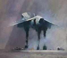 John Harris - A Minor Incident - Oils on canvas on board - 2011 - 18 x 16 inches (46 x 41 cms)