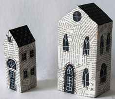 Mixed Media Nesting Houses Abstract Folk Art by Karla G. Clay Houses, Ceramic Houses, Paper Houses, Miniature Houses, Wooden Houses, Art Houses, Scrap Wood Crafts, Wooden Crafts, Paper Crafts