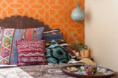 #moroccan inspired accent wall